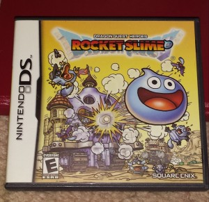 The box art for the North American release of Dragon Quest Heroes: Rocket Slime.