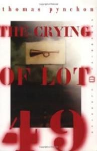 A cover of Thomas Pynchon's The Crying of Lot 49.